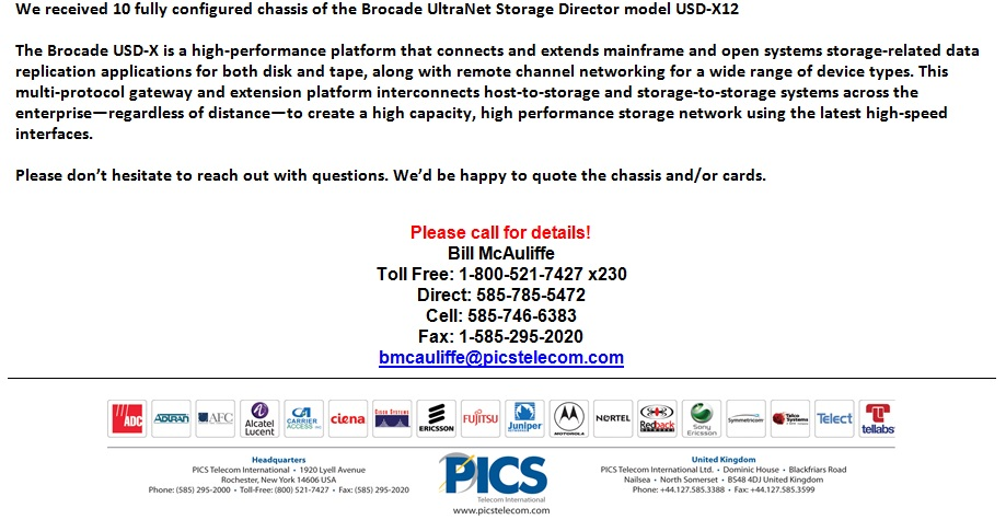 Brocade USD-X 12 Switches For Sale Bottom (4.10.13)
