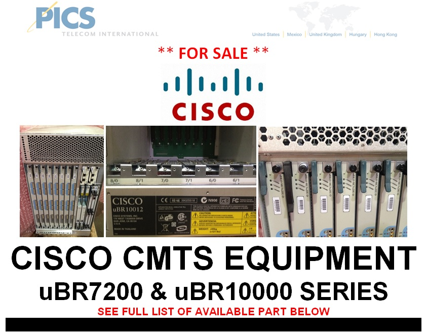 Cisco CMTS Equipment For Sale Top