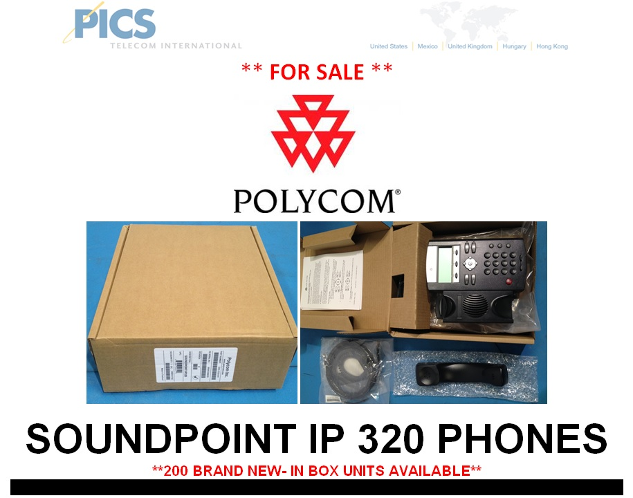 Polycom SoundPoint IP 320 Phones For Sale Top (4.10.13)