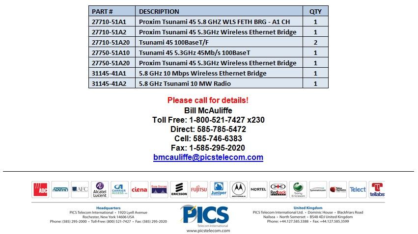 Proxim Tsunami Wireless Equipment For Sale Bottom