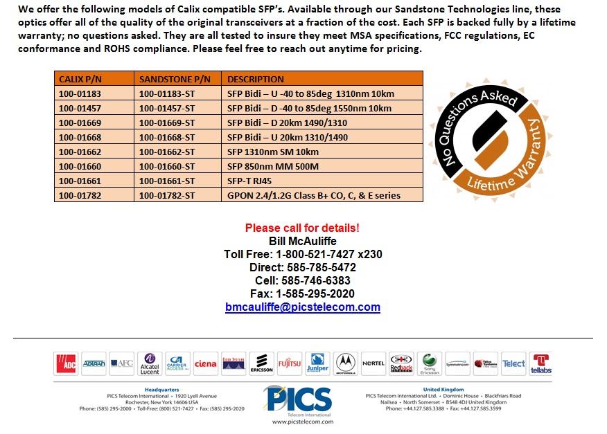 Sandstone Calix SFP For Sale Bottom (8.20.13)