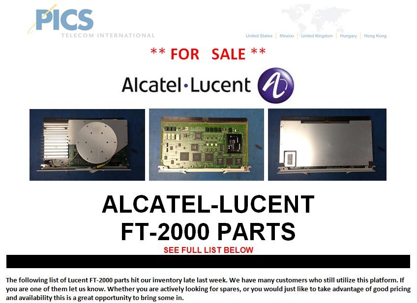 Alcatel-Lucent FT-2000 Parts For Sale Top (9.30.13)