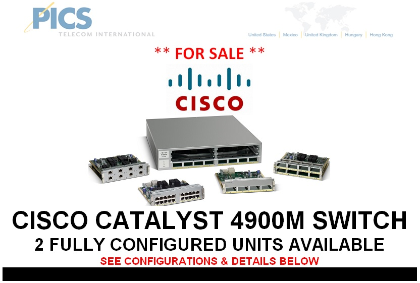 Cisco C4900M Switch For Sale Top (9.16.13)