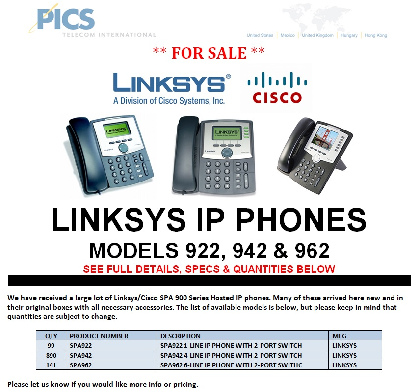 Linksys IP Phones For Sale Top (9.5.13)