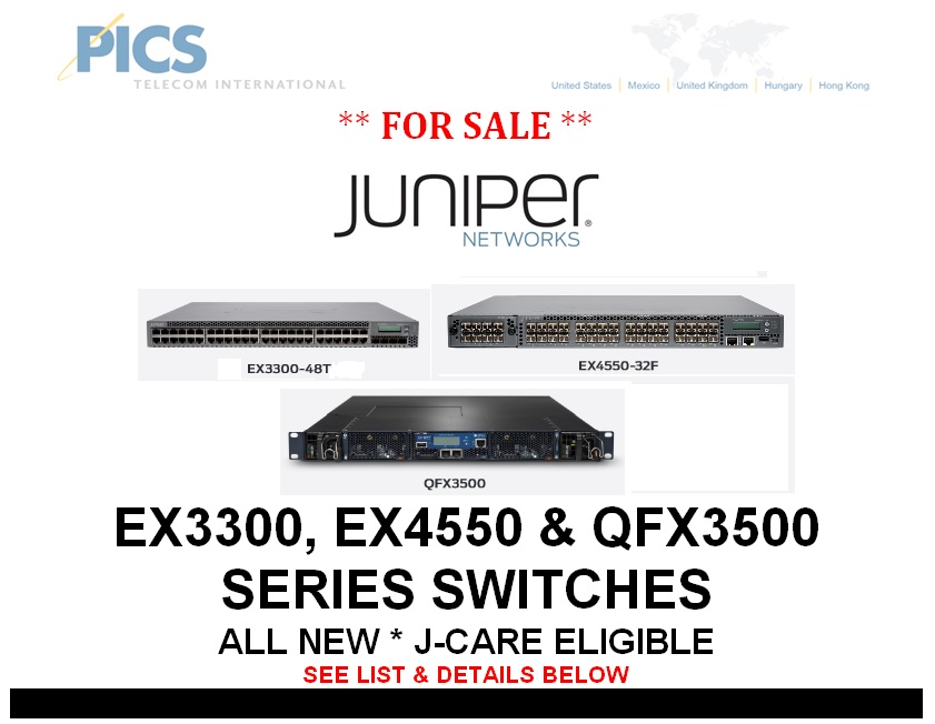 Juniper EX & QFX Switches For Sale Top (10.8.13)