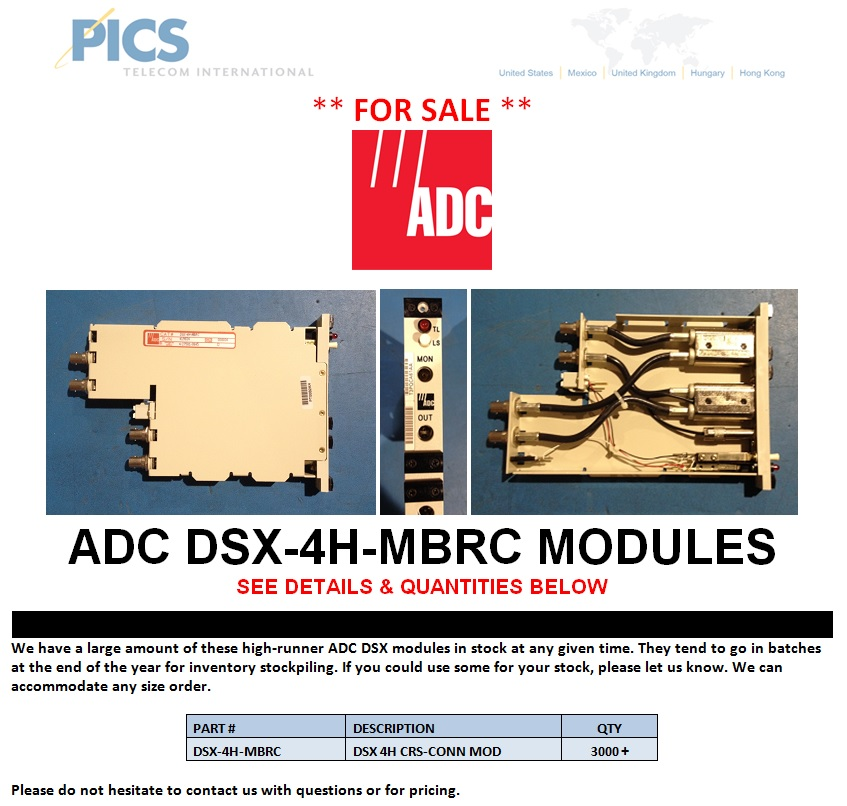 ADC DSX-4H-MBRC For Sale Top (12.9.13)