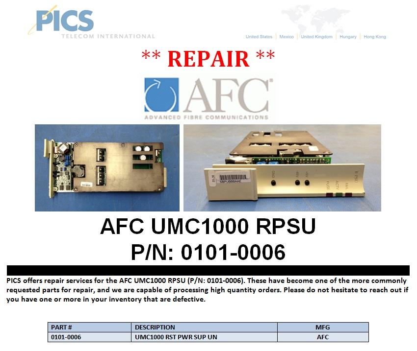 AFC UMC1000 RPSU Repair For Sale Top (1.7.14)