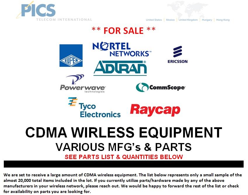 CDMA Wireless Equipment For Sale Top (1.8.14)