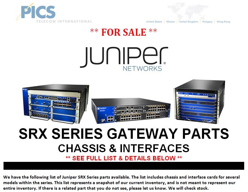 Juniper SRX Series Parts For Sale Top (1.29.14)