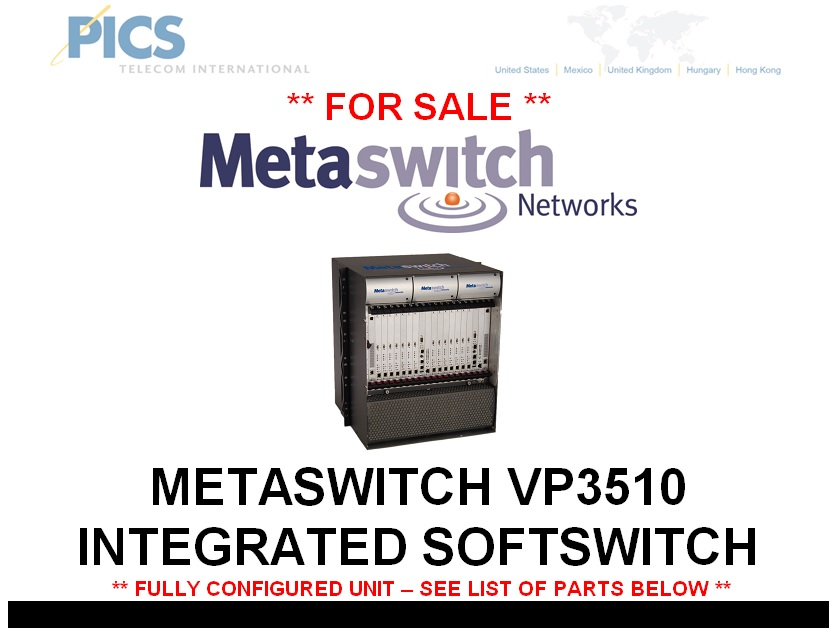 Metaswitch VP3510 Softswitch For Sale Top (2.5.14)