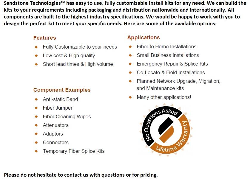Sandstone Custom Fiber Install Kits For Sale Bottom (2.4.14)