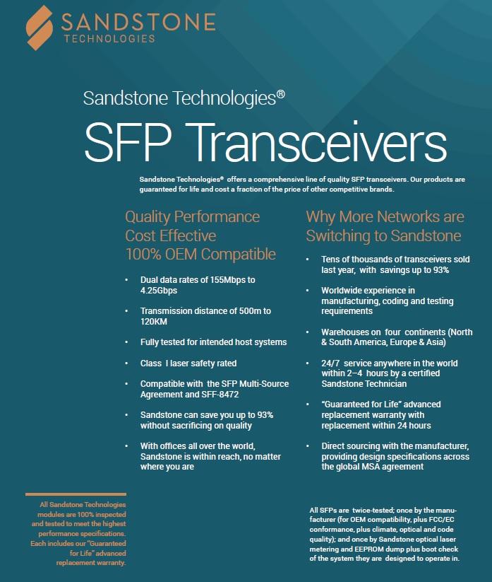 Sandstone SFP Overview Top
