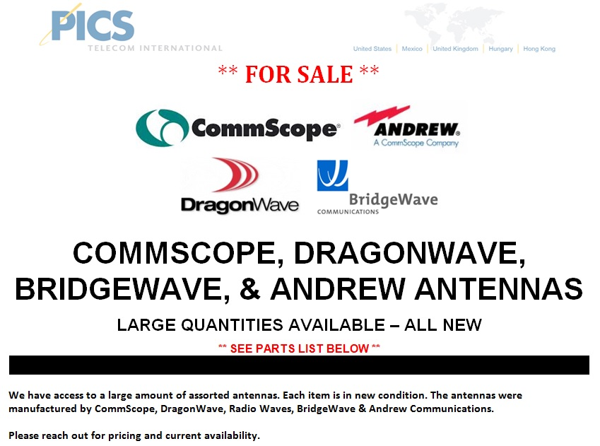 Assorted Antennas For Sale Top (4.8.14)