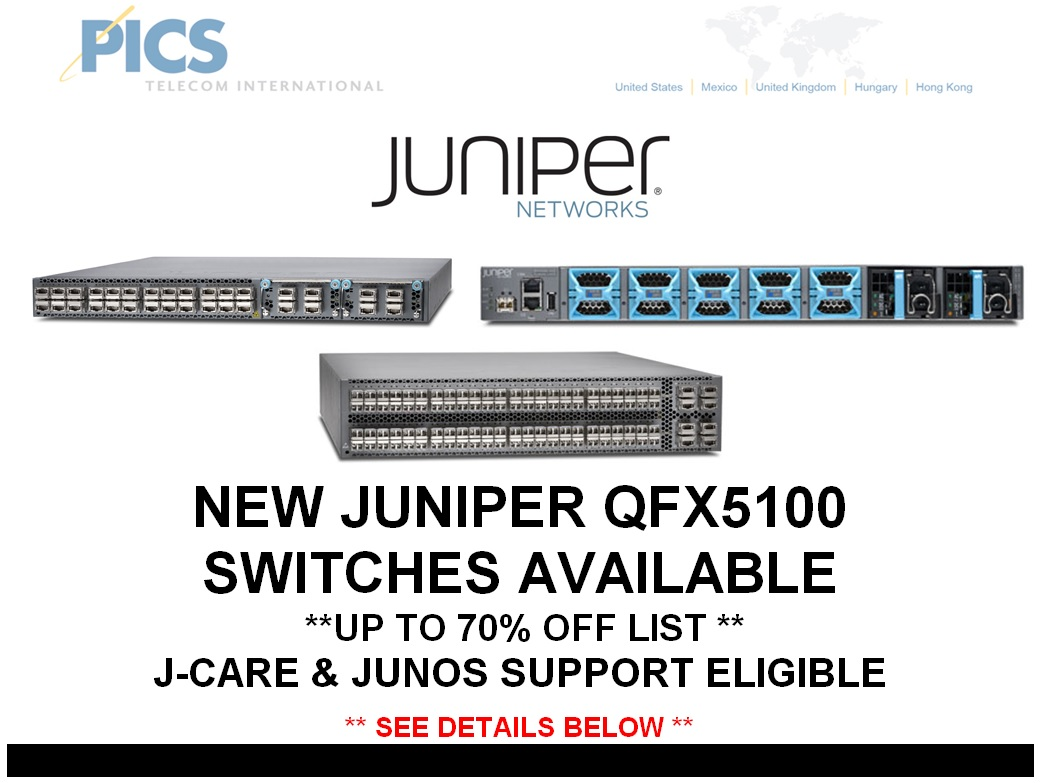 Juniper QFX5100 Switches For Sale Top (8.12.14)