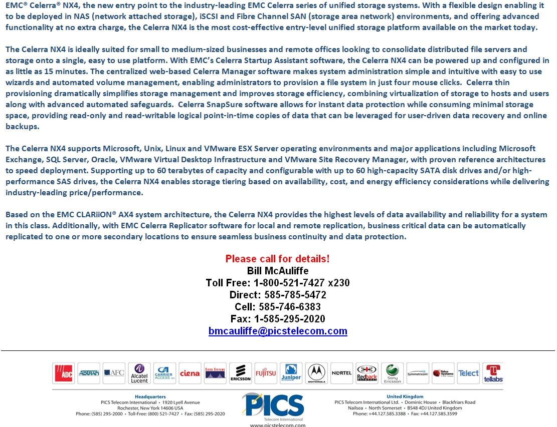 EMC Celerra NX4 For Sale Bottom 2 (9.16.14)